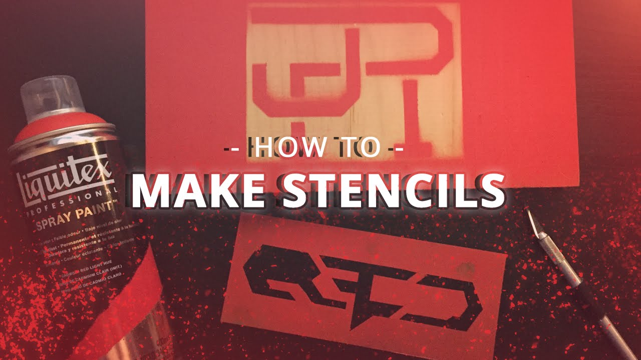 How To Make Spray Paint Stencils Quick Amp Easy Youtube