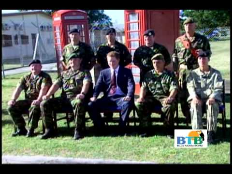Prince Harry with British Soldiers in Belize