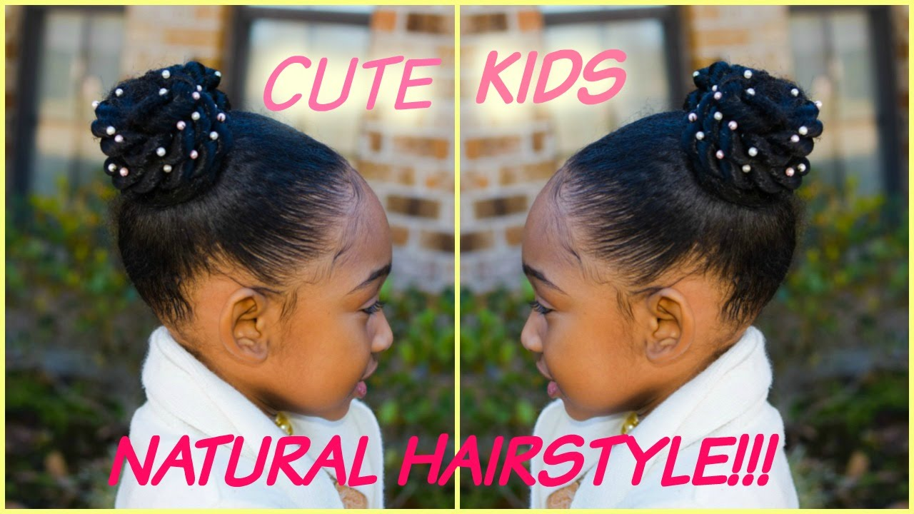 Kids Natural Hairstyles Beaded Puffs Youtube
