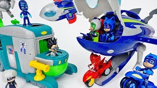 Romeo's Sleeping Gas Is Coming~! Fly PJ Masks HQ Rocket - ToyMart TV
