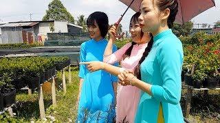Thôn nữ mặc áo dài tham quan Làng Hoa Sa Đéc P3   Thôn Nữ Miền Tây