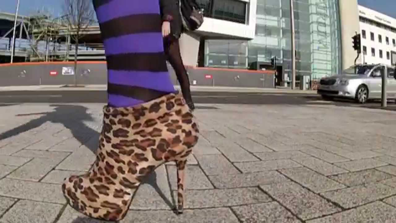 And Public A Heels Boots Youtube 61 Heel Goth High Skirt Y76fbygv