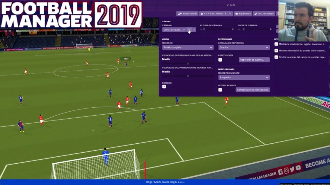 Football Manager 2019 Pc Primer Partido Y Toma De Contacto Gameplay En Espanol
