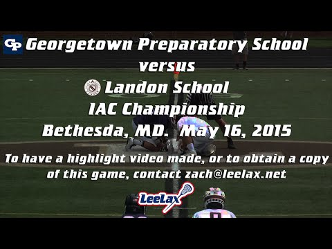 Game LeeLights:  Georgetown Prep @ Landon