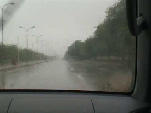 Driving to work during cyclone Guno ( Muscat, Oman )