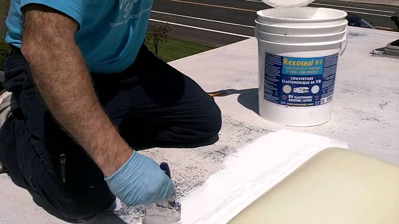 RV Rubber Roof Restoration And Repair   YouTube