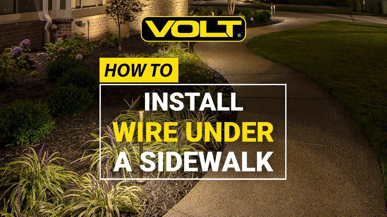 medium resolution of how to install landscape lighting wire under a sidewalk volt university youtube