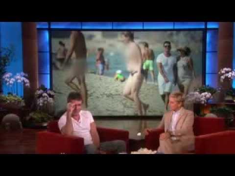 simon clothless with girl at beach on the ellen show season 11 2013
