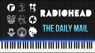 Radiohead - The Daily Mail (Piano Tutorial Synthesia)