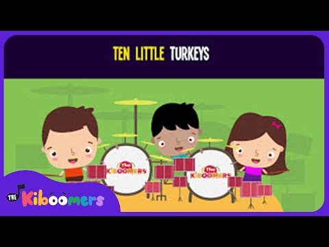 10 Little Turkeys Song for Kids  Thanksgiving Counting Songs for Children  The Kiboomers
