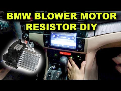BMW E46 AC Blower Motor Resistor Replacement DIY