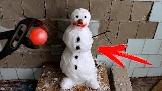 EXPERIMENT Glowing 700 degree metal ball VS SNOWMAN