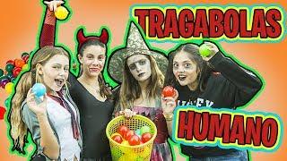 Juegos para HALLOWEEN con amigos Youtubers // Traga bolas humano ¡¡Muy loco!!