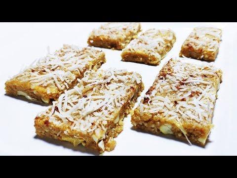 Keto No Bake Coconut Cashew Bars Recipe | Almond Flour Bars | Low Carb Bars | Cashew Coconut Bars