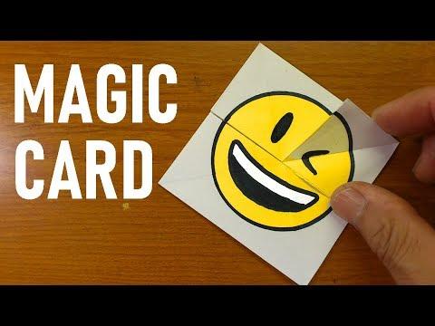 Emoji Paper Magic Card - DIY Face Changer Tutorial For Kids