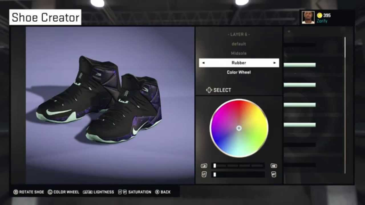 NBA 2K15 Shoe Creator - Nike LeBron 12 Custom