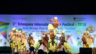 Oggu Katha - A Traditional  Folk art of Telangana performed during the International Kite Festival