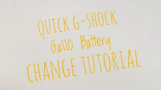 Casio GShock battery change GA110 tutorial. HD GA-110