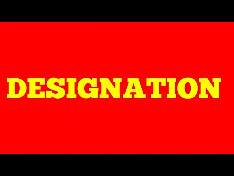 DESIGNATION meaning hindi in with synonyms