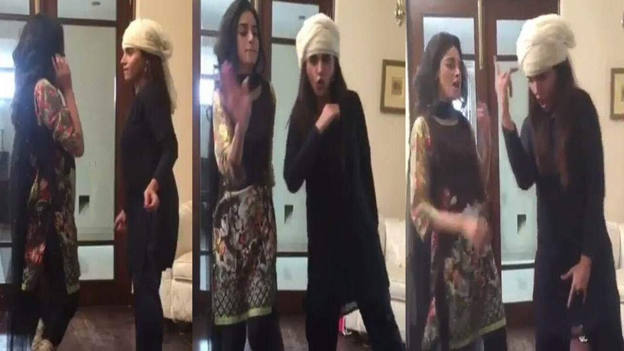BTS dance video of Amna Malik and Anmol Baloch from the sets of Aik Larki  Aam Si