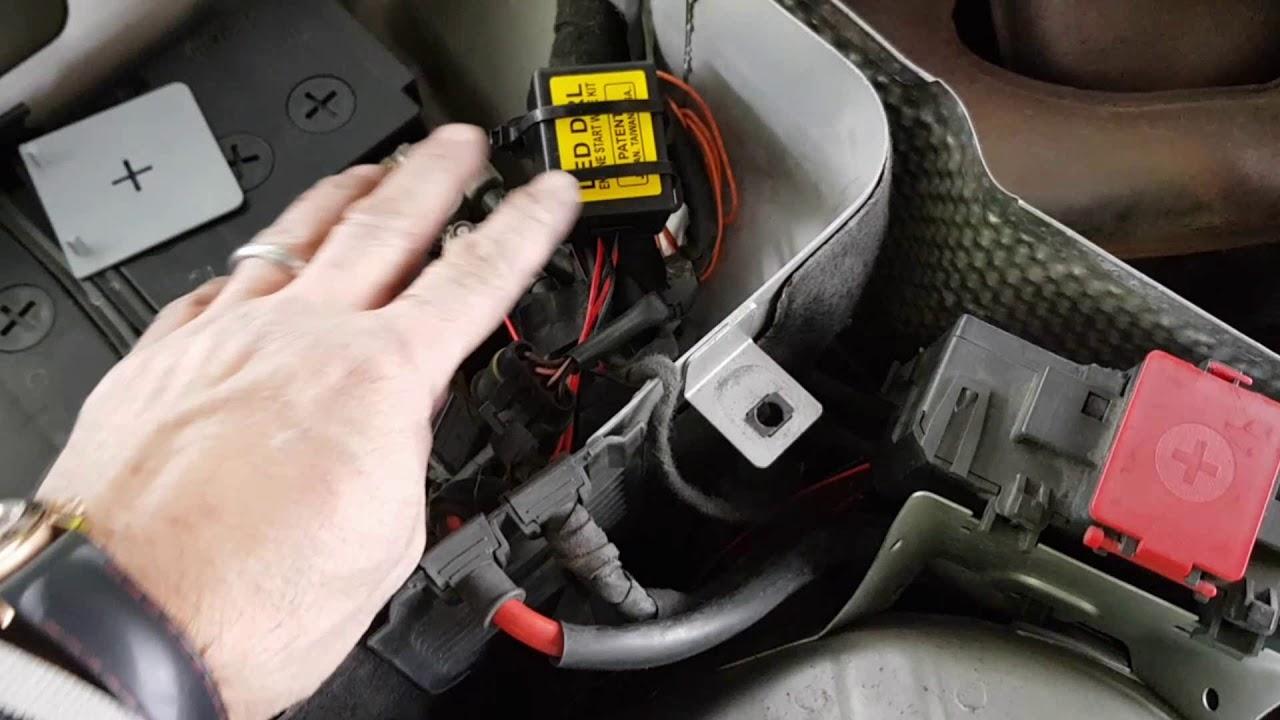 Schema Elettrico Per Luci Diurne : Montaggio centralina per accesnione fari diurni su qualsiasi auto