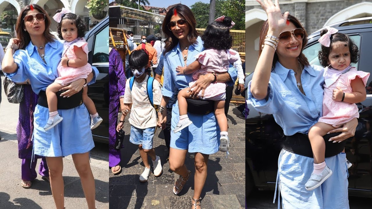 Shilpa Shetty's Daughter Samisha Looks so Cute leaving for Vacation without Raj Kundra after Divorce