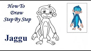 How To Draw Step By Step Jaggu For Kids
