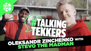 Oleksandr Zinchenko of Manchester City #TalkingTekkers with Stevo The Madman