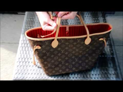 75cfad84dbe5 Обзор сумки Louis Vuitton Neverfull MM - YouTube