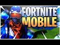 ‪FORTNITE MOBILE GAMEPLAY FIRST GAME + *DOWNLOAD* - Mobile Fortnite Battle Royale!‬