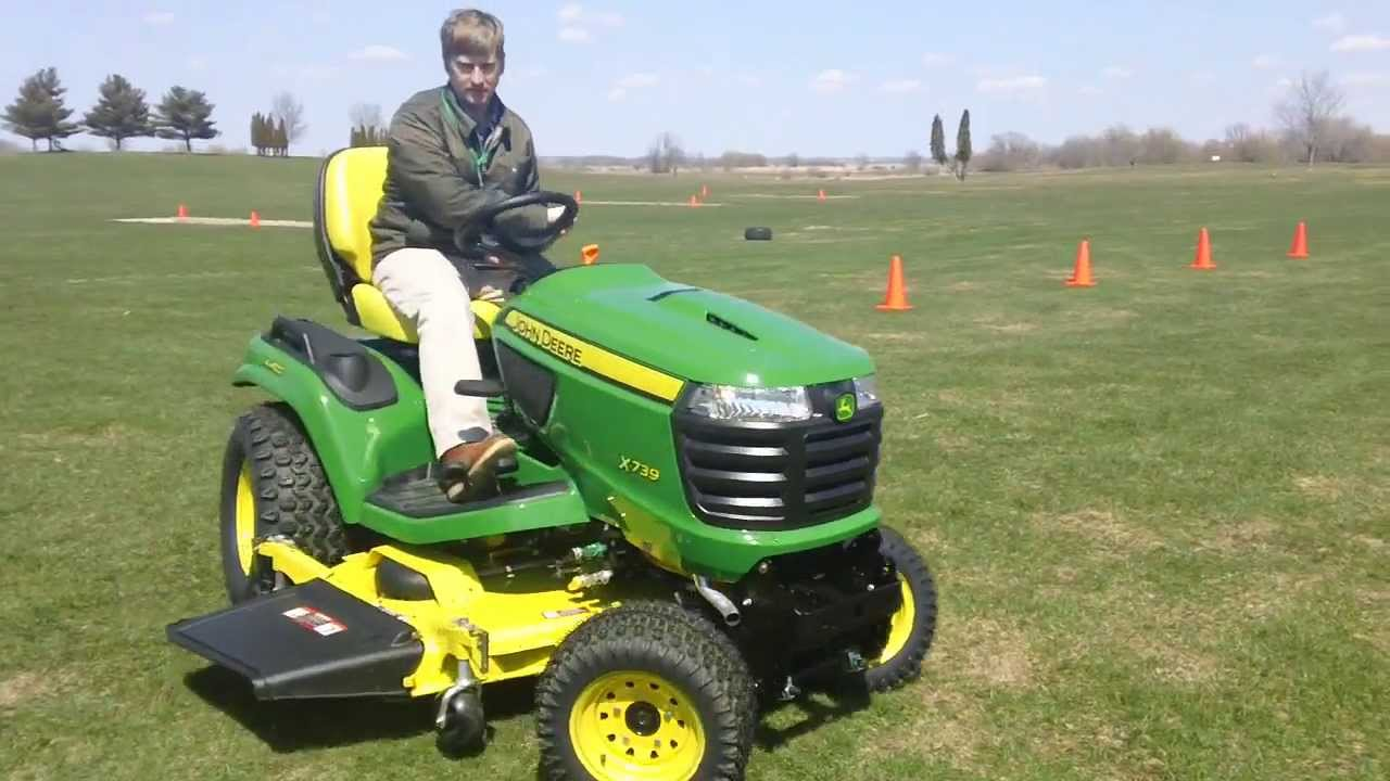 4 Wheel Steer Tractors : John deere riding mower with wheel steering youtube