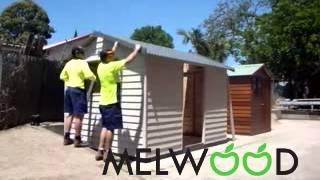 Diy Melwood Timber Garden Shed Install.flv