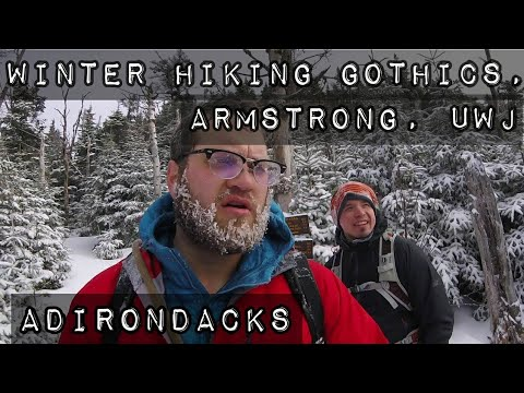 Winter Hiking Gothics, Armstrong, UWJ ADK