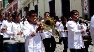 El 14 de septiembre en Quetzaltenango, bandas escolares.