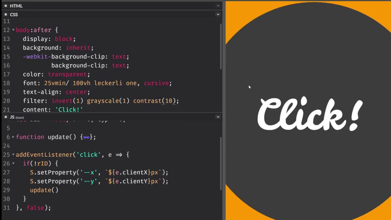 radial-gradient() stop animation with CSS variables and JS - YouTube