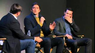 Lee Pace and Richard Armitage Apple Q&A