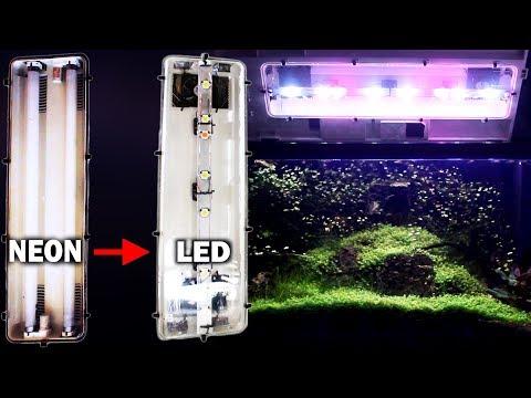 Plafoniere Neon Led : Trasformazione da neon a led · plafoniera acquario