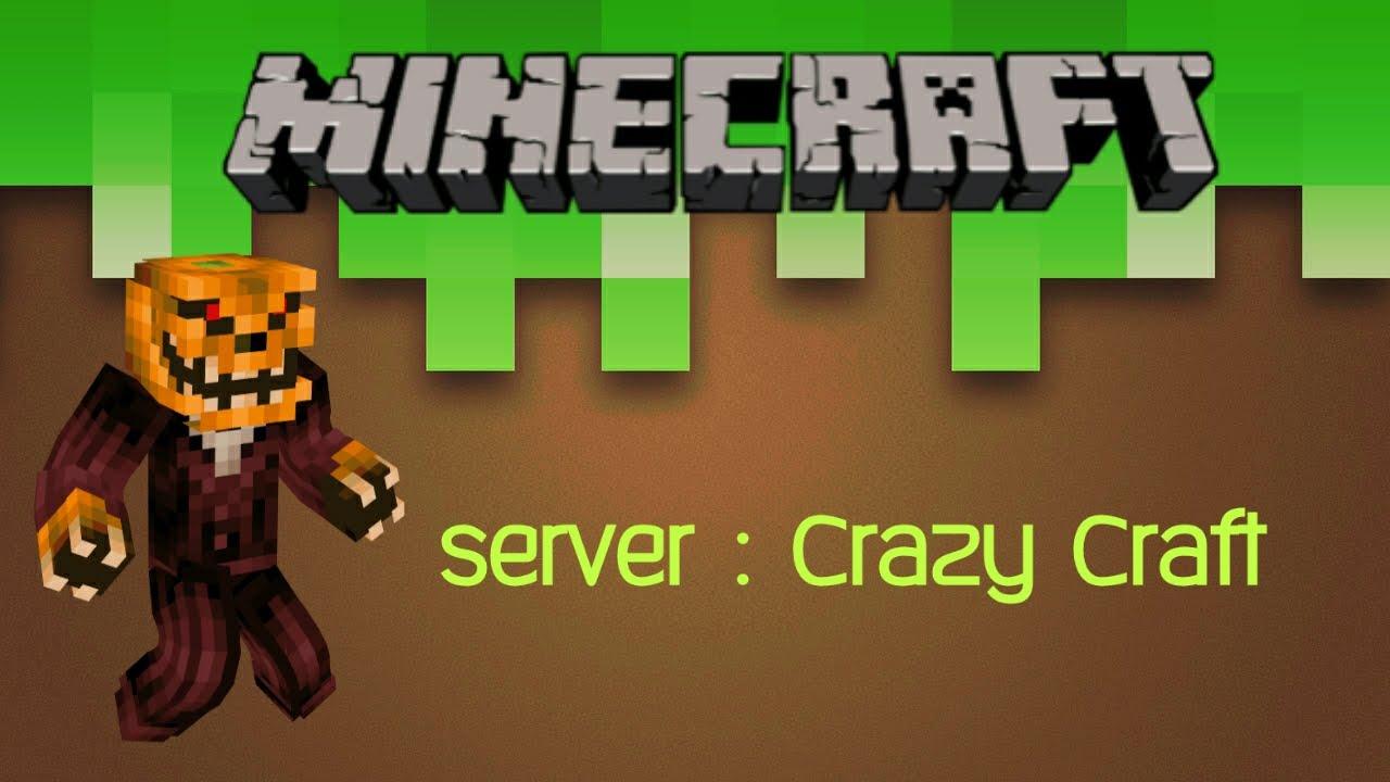 Minecraft Pe Server Crazy Craft Youtube