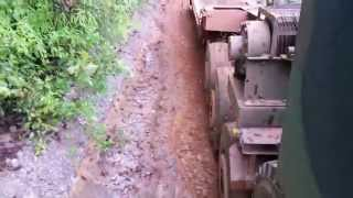 Going uphill the slippery mountain with the Oshkosh M1070