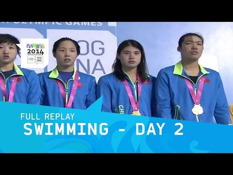 Swimming - Final Men/Women Day 2 | Full Replay | Nanjing 2014 Youth Olympic Games