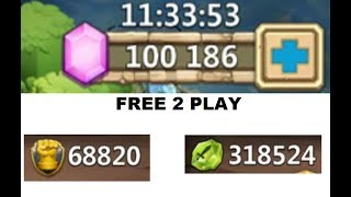 Rolling 100,000 FREE 2 PLAY Gems YEAR WORTH SAVING! Castle Clash