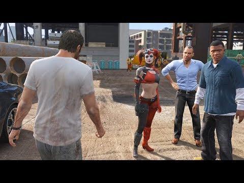 GTA 5 - Modded Cutscenes - Compilation 2 (Harley Quinn and 2B)
