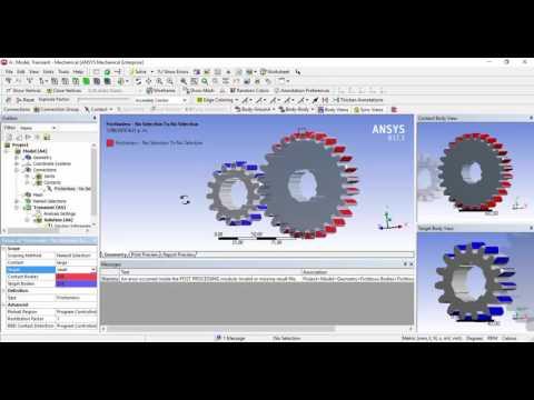 Gear Backlash-Ansys  análisis ruedas dentadas ansys