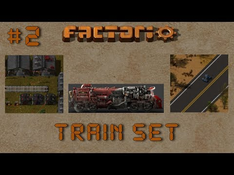 Factorio: Train Set Ep2: Track Design! – Multiplayer Train Gameplay, Lets Play