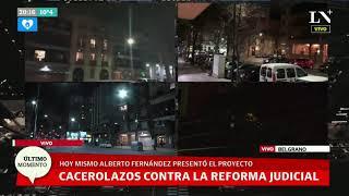 Cacerolazo contra la reforma judicial de Argentina