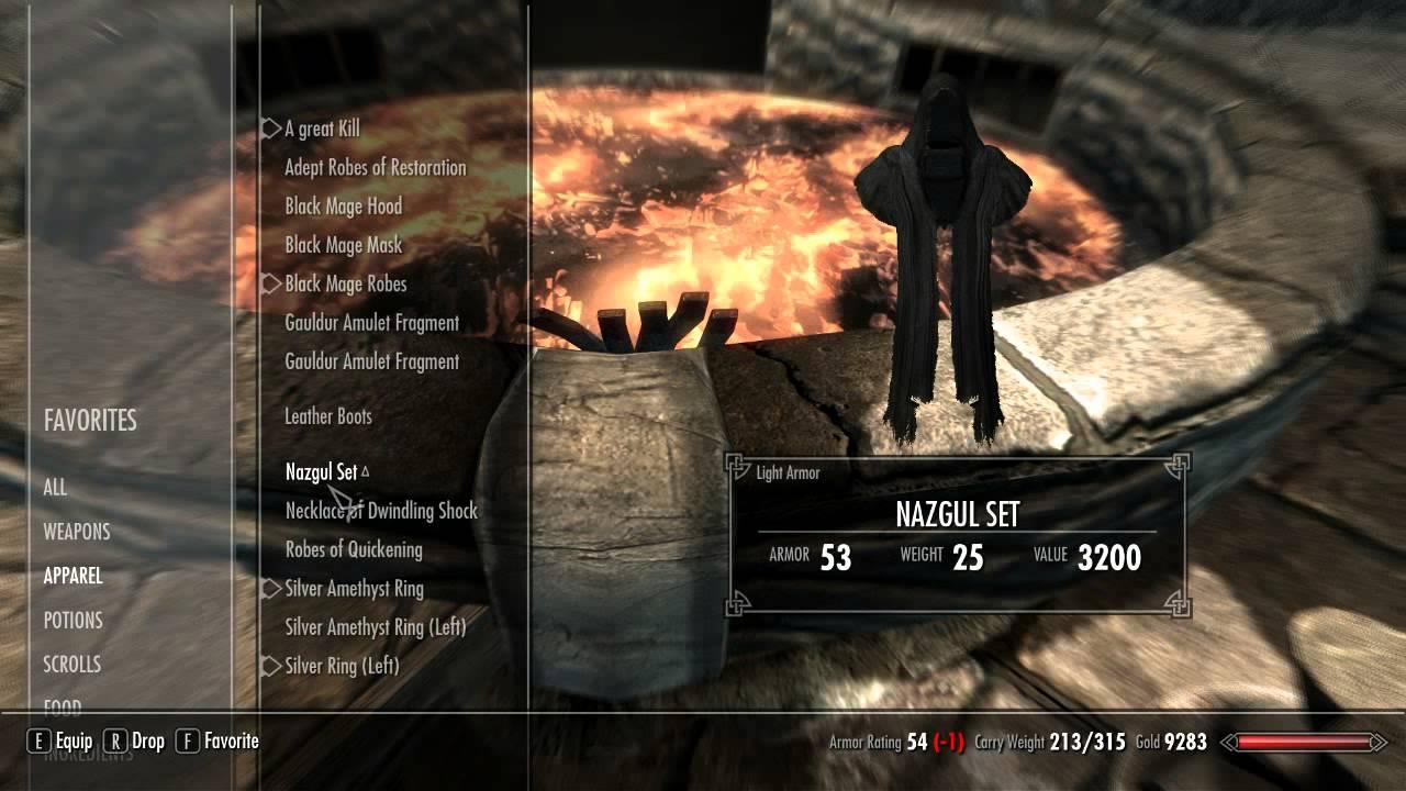 Nazgul Armor/Set Skyrim Mod by GamingTilDawnStudios