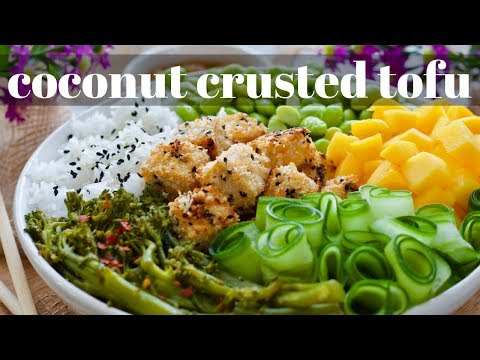 CRISPY COCONUT TOFU BOWL EASY TO MAKE + HEALTHY VEGAN RECIPE [PLANTIFULLY BASED]