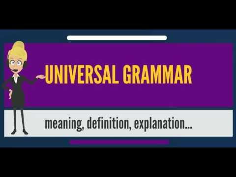 What is UNIVERSAL GRAMMAR? What does UNIVERSAL GRAMMAR mean? UNIVERSAL GRAMMAR meaning