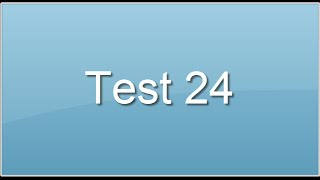 Test 24. Evaluation du raisonnement verbal, test de qi verbal