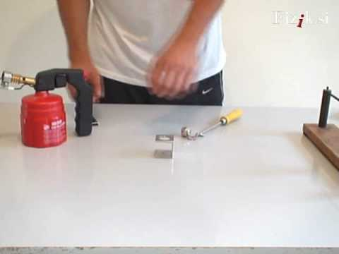 Thermal expansion - physics experiment